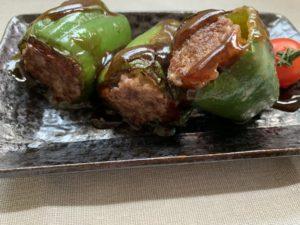 ピーマンの肉詰めミルフィーユ