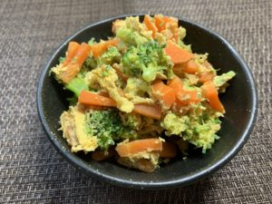 ブロッコリーのピカタ風サラダ