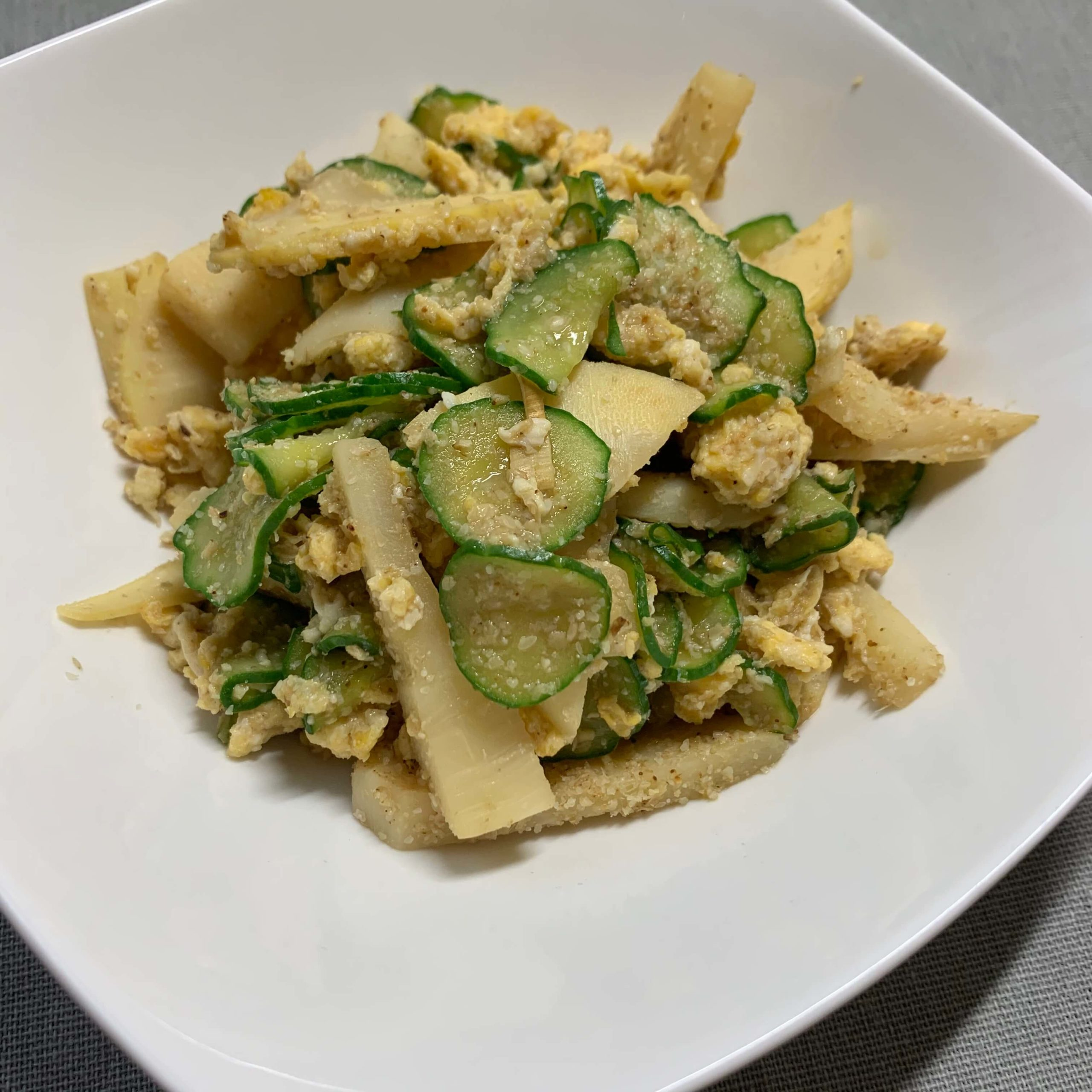 たけのこときゅうりの卵サラダ